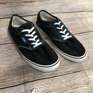 VANS Atwood Low Sneakers Black Ocean White 8 Women